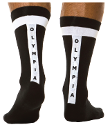 Olympia Black with White Socks