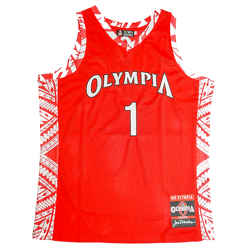 Olympia Strike Force Red Basketball Jersey
