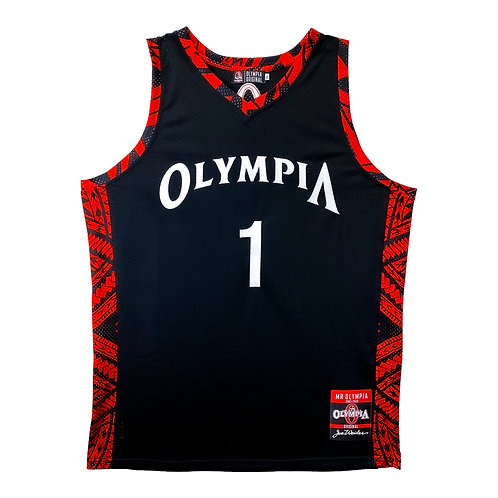 Olympia Strike Force Black Basketball Jersey