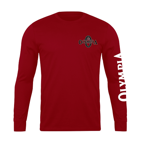 Olympia Signature Red  Long Sleeve Cotton Tee