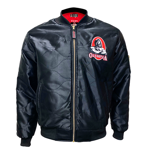 Olympia Original Bomber Jacket:       Champion Black