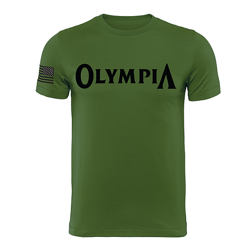 Olympia Military Green Cotton Tee