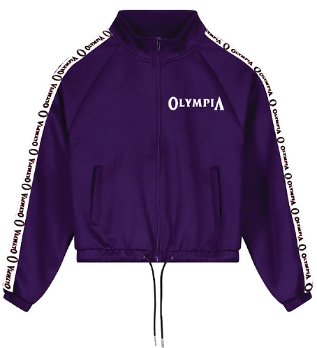 Olympia Purple Full Zip with Pull Strings