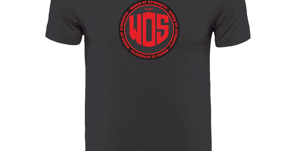 Black Wings of Strength Unisex Circle WOS T-Shirt