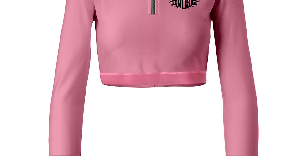 Pink 1/4 Zip Wings of Strength Jacket with WOS Design