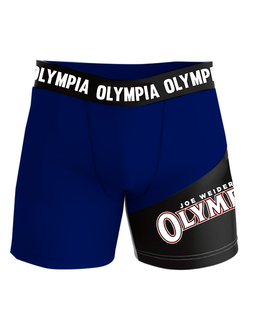 Olympia White Compression Shorts