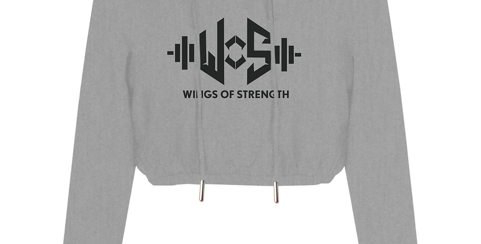 Heather Grey Crop Wings of Strength with WOS Design