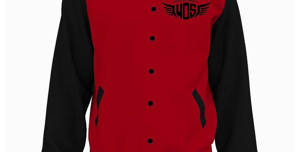 Wings of Strength Letterman Jacket Red & Black