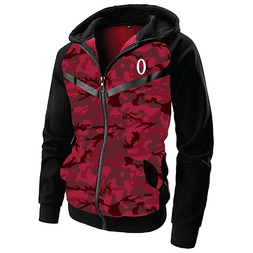 Olympia Premium Red Camo Training Zip Hoodie