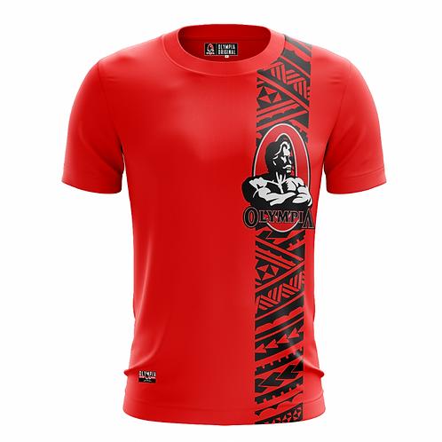 Olympia Samoan Tatau Print Dry Performance T-Shirt