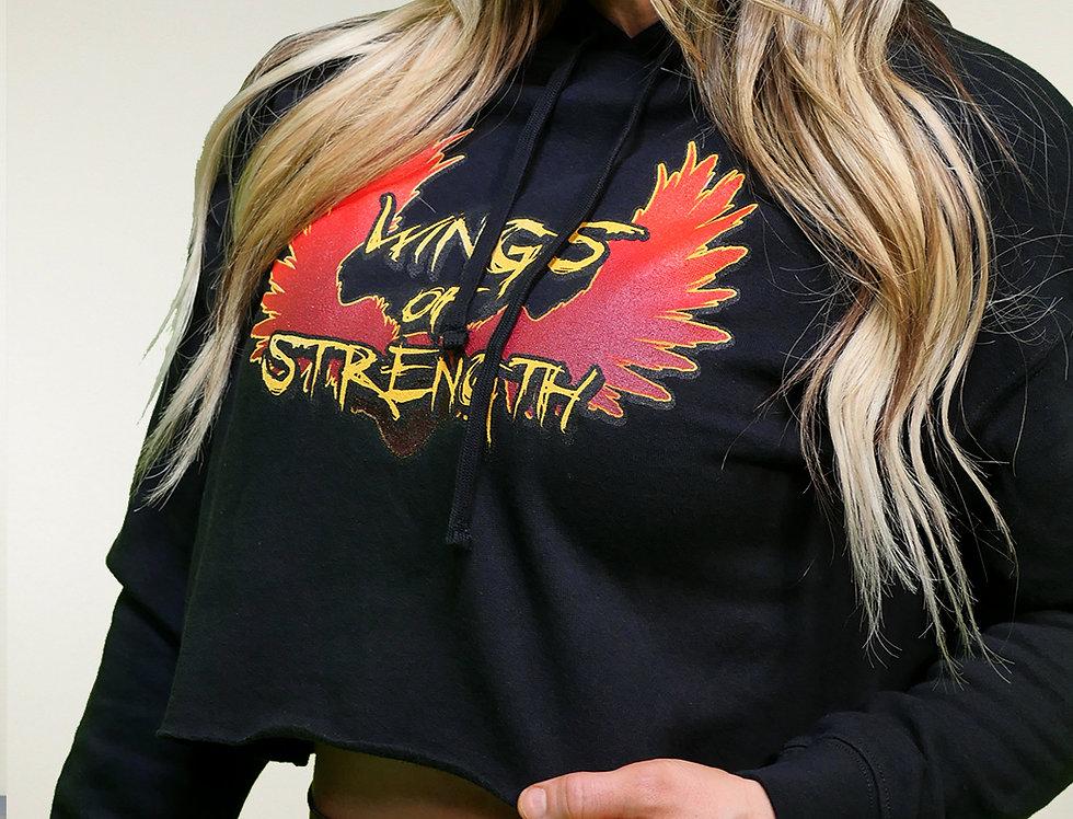 Wings of Strength Cropped Hoodie