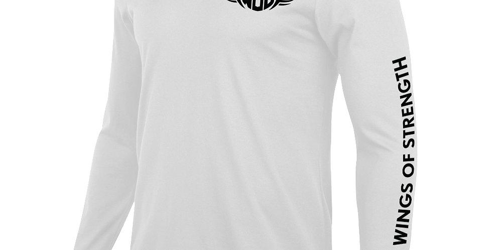 Wings of Strength White Long SleeveT-Shirt w/WOS Design