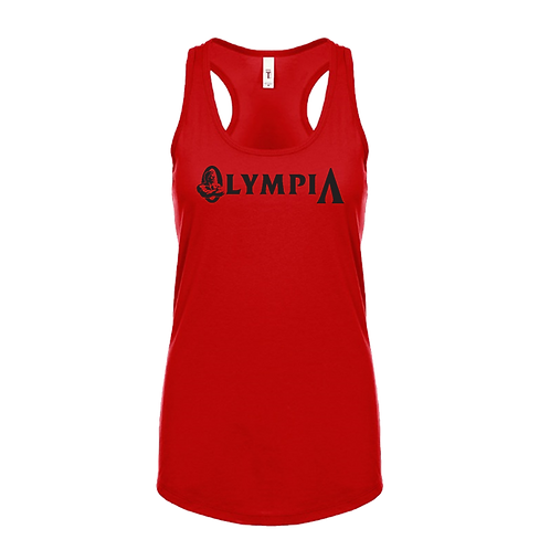 Olympia Longline Tank-Red