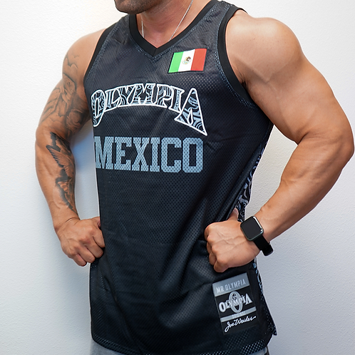 Olympia Mexico Black and silver Jersey