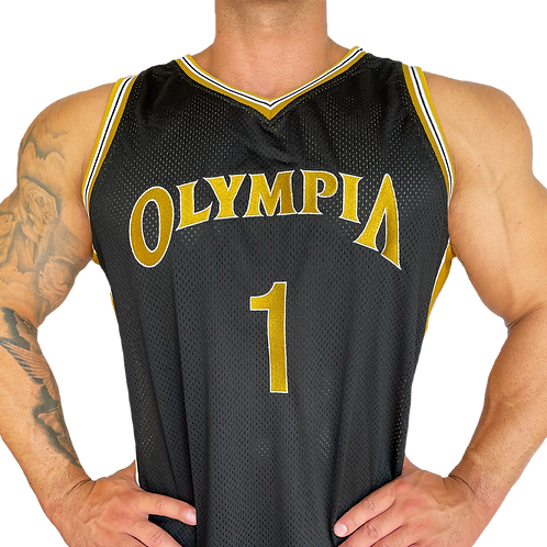 Olympia Black and Gold Basketball Jersey
