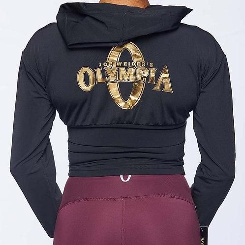 Olympia Black Crop V w/ Half Zip Hoodie