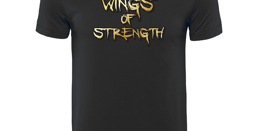 Wings of Strength Black T-Shirt w/ Official Logo