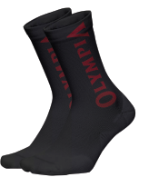 Olympia Black with Red Socks.