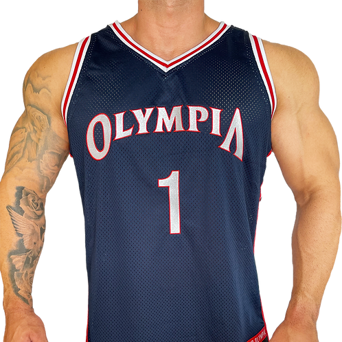 Olympia Navy Basketball Jersey