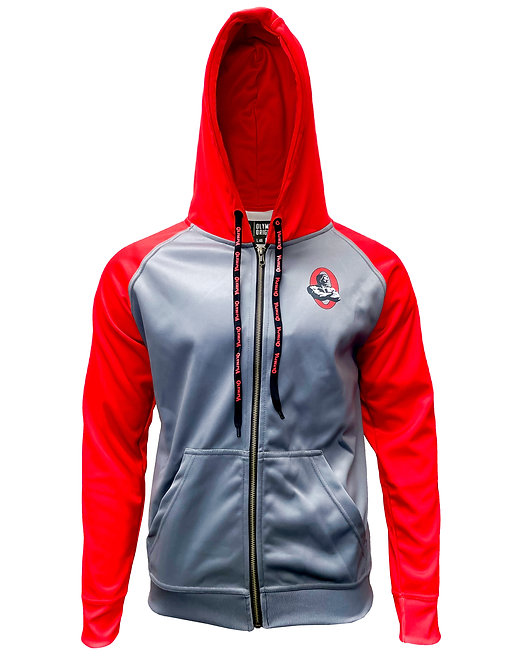 Olympia Dark Grey & Red Dry Performance Hoodie Jacket