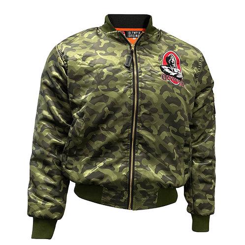 Olympia Original Bomber Jacket Camo Green