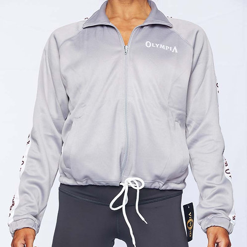 Olympia Grey Full Zip with Pull Strings