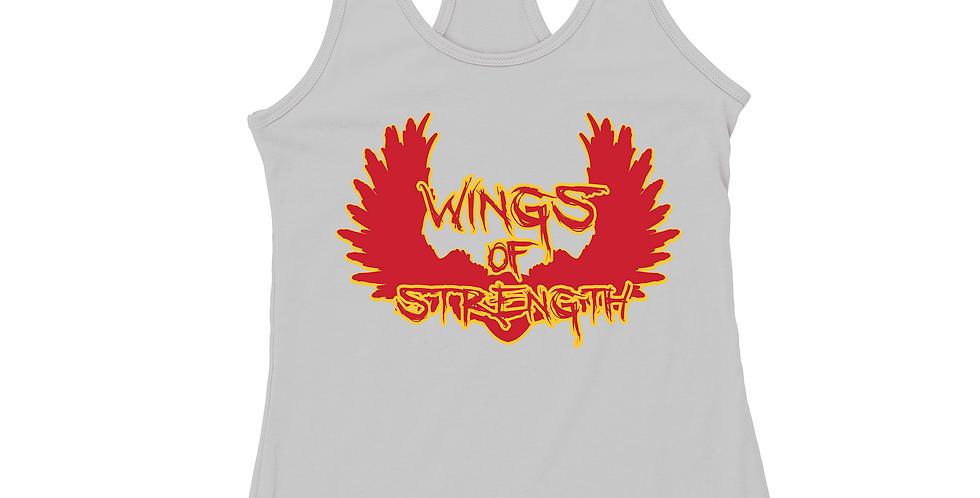 Wings of Strength White Y Stringer