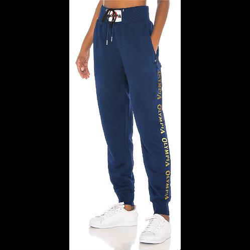 Olympia High Rise Sweatpants Blue