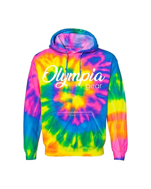 Olympia Gear Tie Dye Pullover Hoodie
