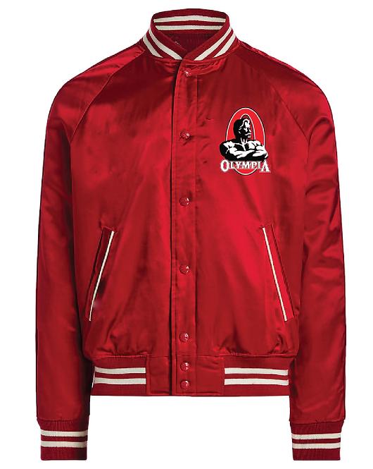 Olympia Red Botton Up Baseball Jacket