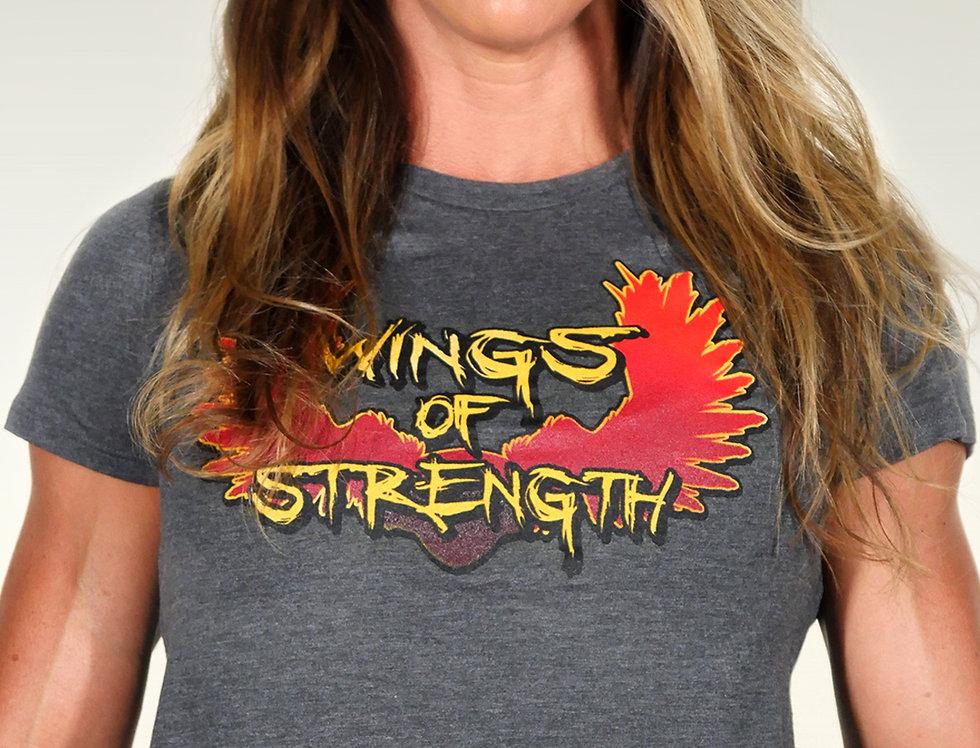 Wings of Strength Women's Flowy Crop T-Shirt