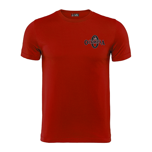 Olympia Signature Red Cotton Tee