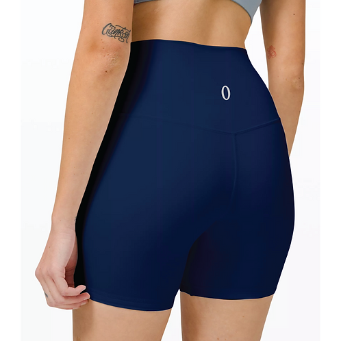 "Olympia Navy Biker Shorts 6"""