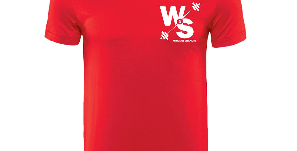 Red Wings of Strength Unisex White WOS T-Shirt