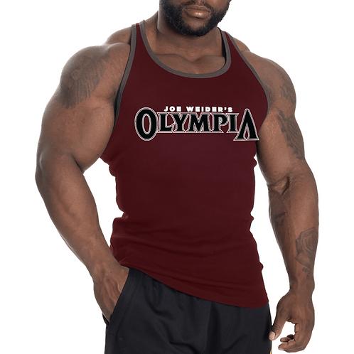 Olympia Vintage T Back Tank Maroon