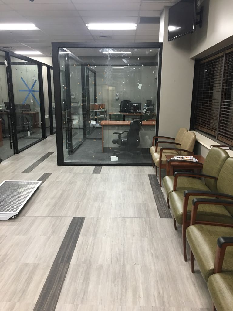 New Glass partition  Private Offices