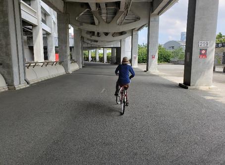 大人の自転車教室。本日も乗れて帰られました