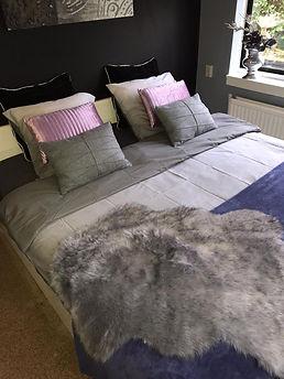 Slaapkamer voor 2 pers. privé sauna Haaksbergen