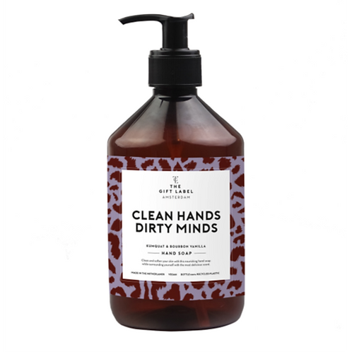 "Handzeep 500 ml ""Clean hands, dirty mind"""