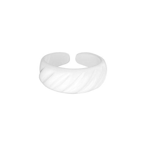 Candy Ring Diagonal Ridge - Metaal