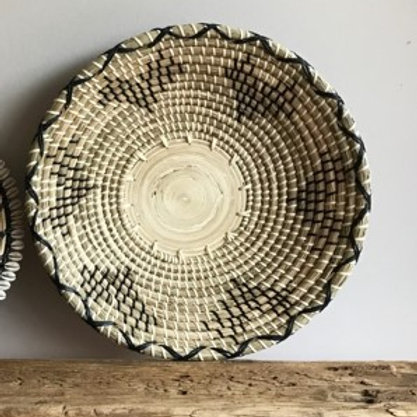 Schaal - naturel/zwart/wit 41,5cm