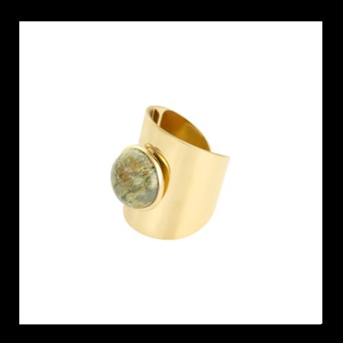 Ring Enchanted - goud groen