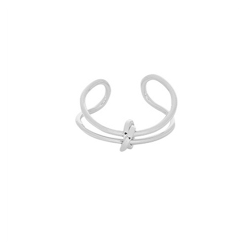 Ring Connected Lines - zilver