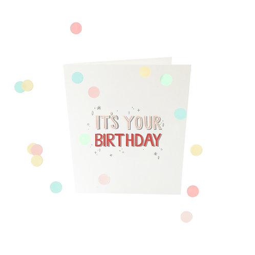 Confettikaart - It's your birthday