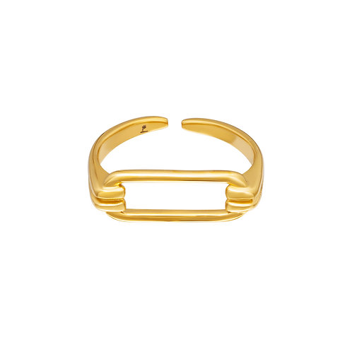 Ring Geometrisch - goud