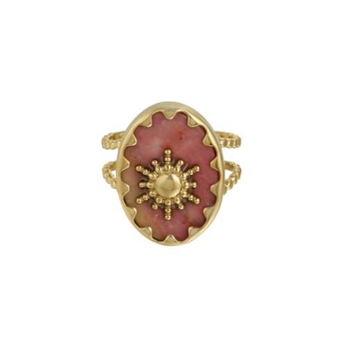 Ring Ray of Light - goud - rose