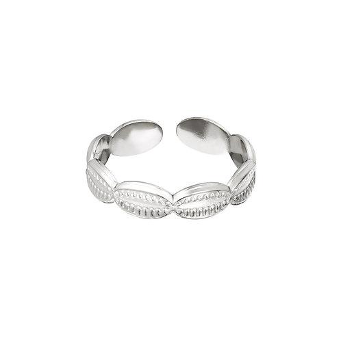 Ring Zeeschelp - zilver