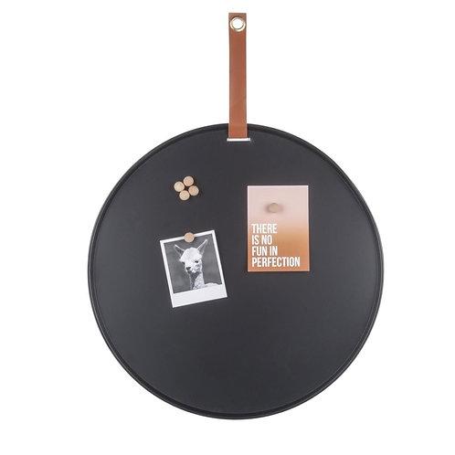 Memo board -  Zwart, 50cm, incl. 6 magneten