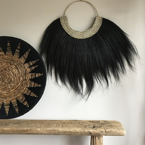 Wandhanger - zwart 80x65 cm