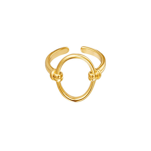 Ring open ovaal - goud